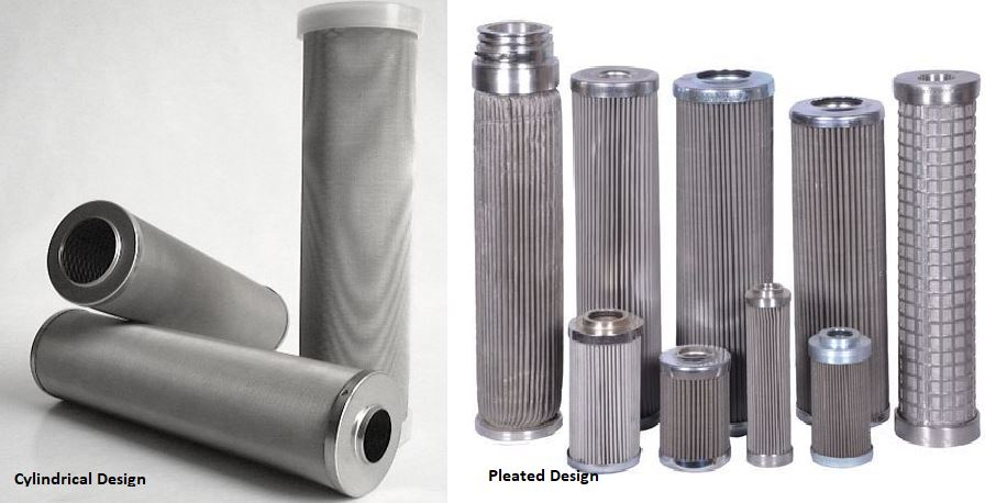 Cylindrical vs pleated