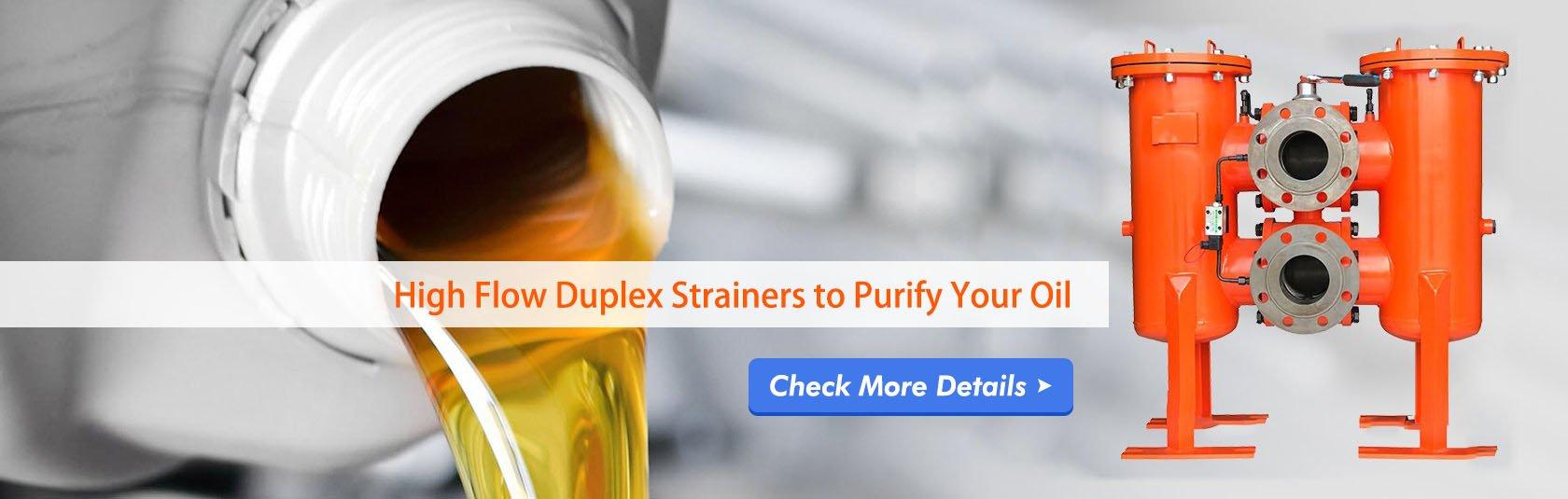 high flow duplex filters housing