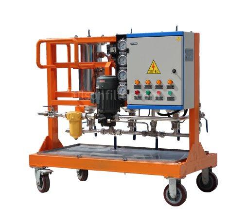 Multi-stage oil filtration unit