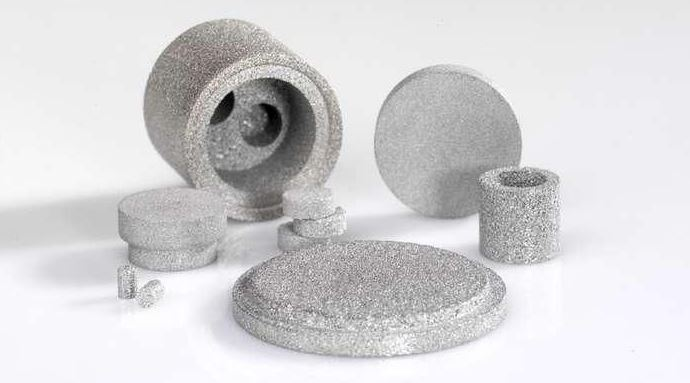 Surface area of sintered metal filter