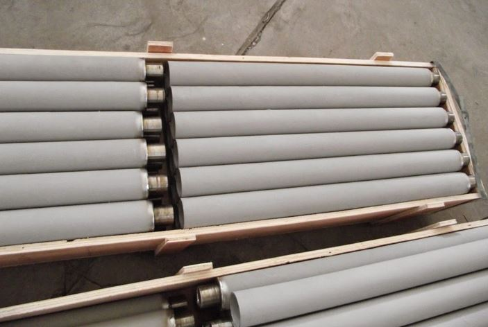 Packaged sintered metal filters