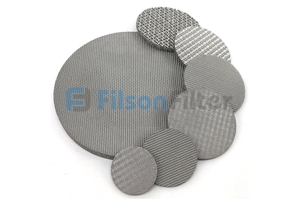 sintered woven wire mesh sintered stainless steel mesh disc